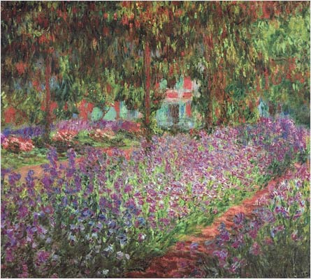Le jardin de l'artiste à Giverny, Claude Monet, 1900