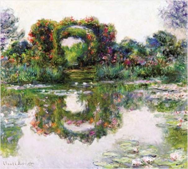 Les arceaux fleuris, Claude Monet, 1913