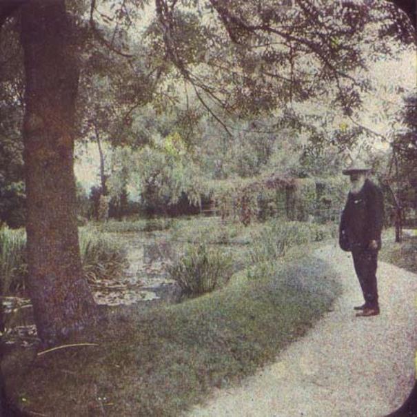 Claude Monet dans sa maison de Giverny
