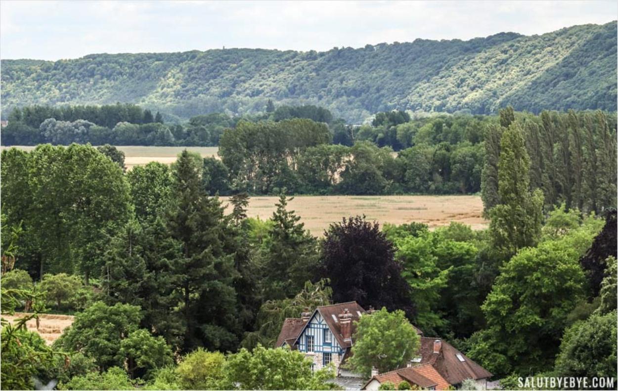 Paysage à Giverny en Normandie