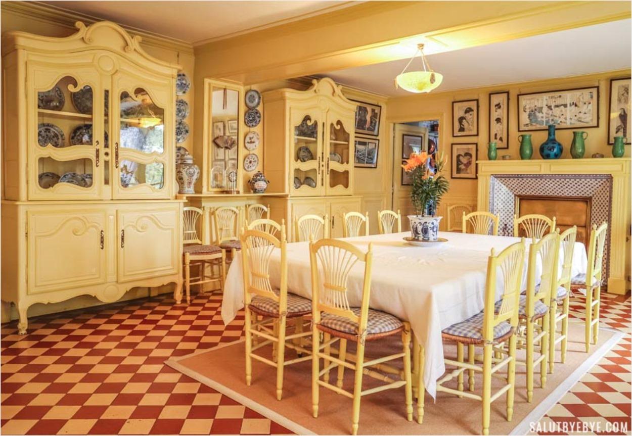 La salle à manger de Claude Monet à Giverny