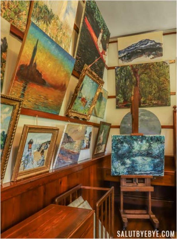 Salon-atelier de Claude Monet à Giverny