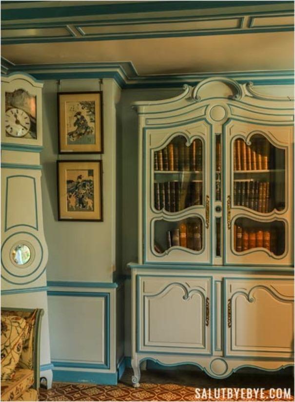 Le petit salon bleu, maison de Monet à Giverny
