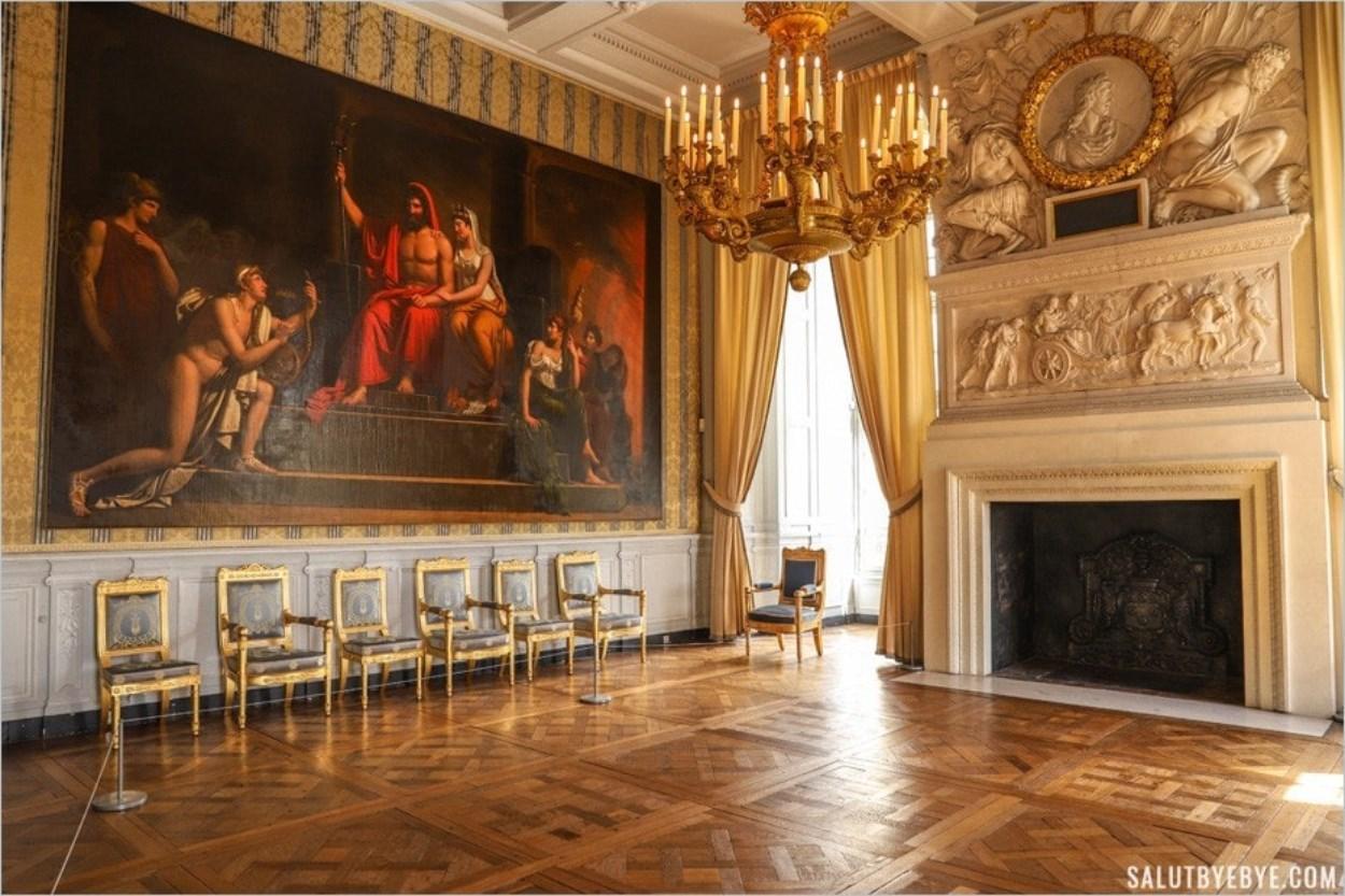 Le salon des captifs, château de Maisons-Laffitte
