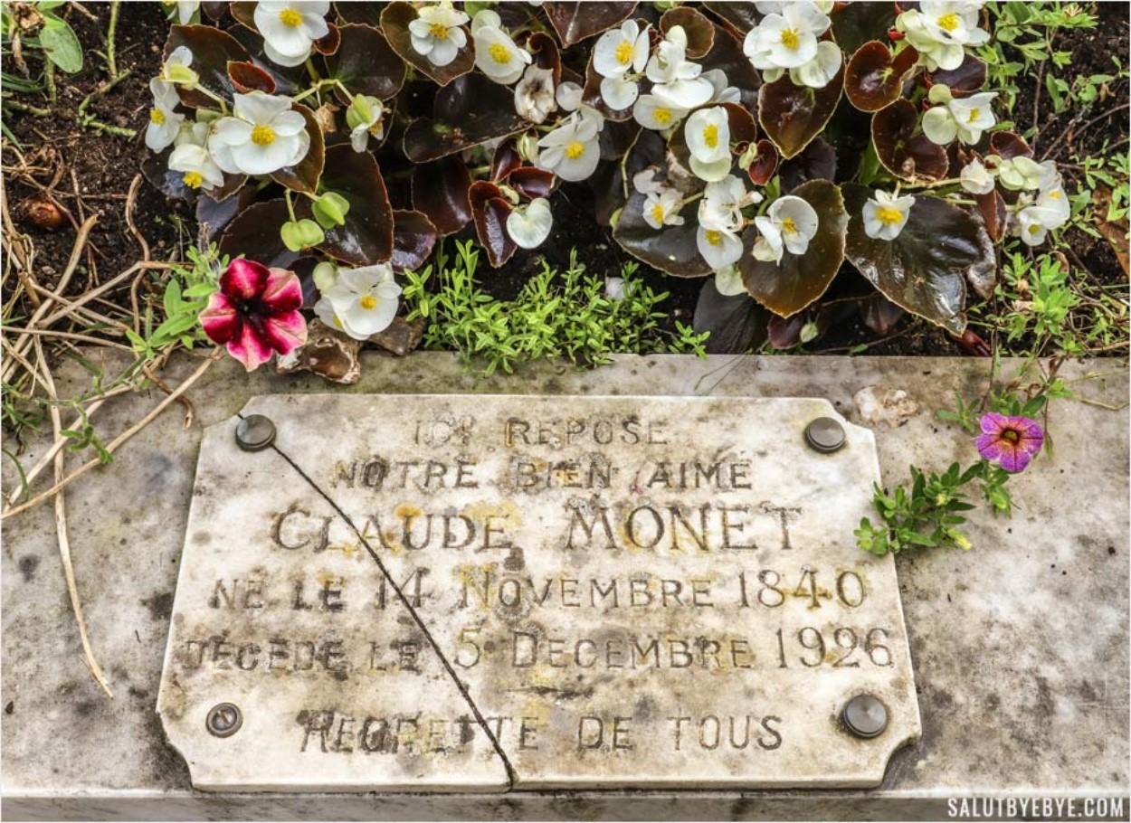 La tombe de Claude Monet au cimetière de Giverny