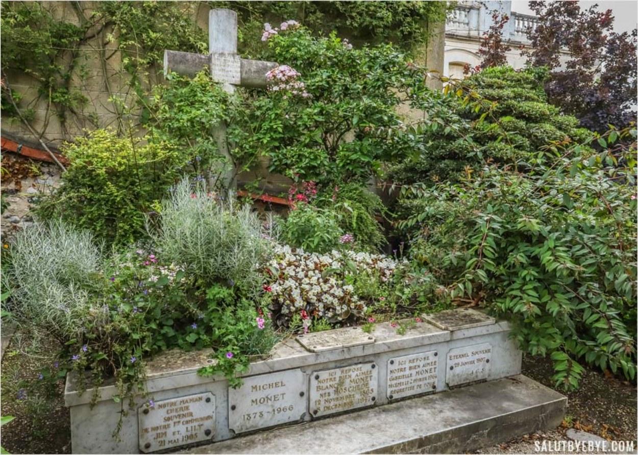 La tombe de Claude Monet à Giverny