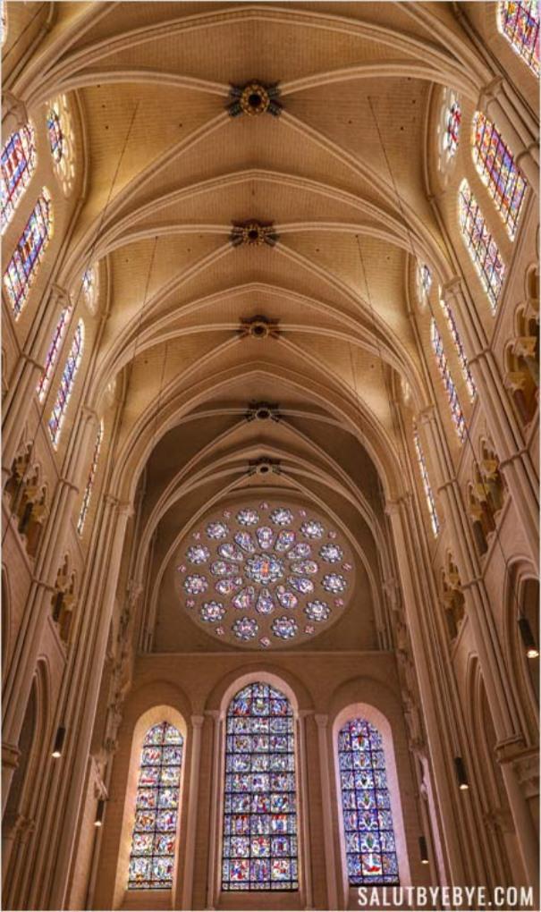 La rose du Jugement dernier de la cathédrale