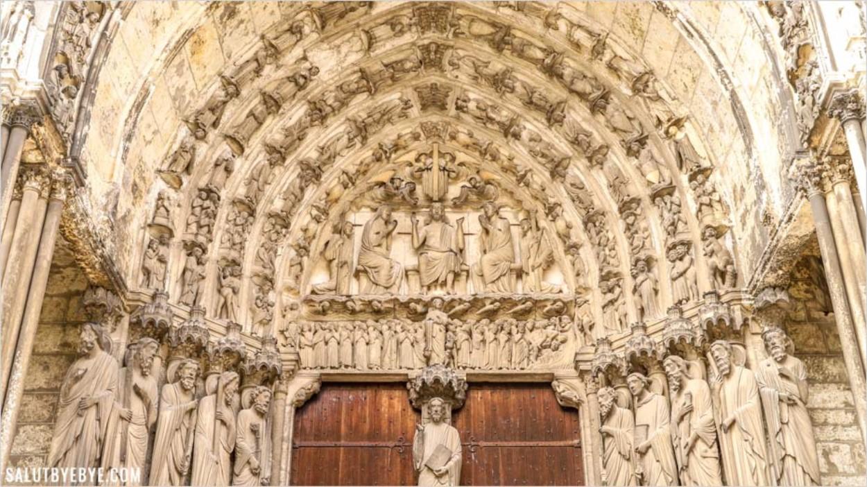 Le portail du Jugement dernier à Chartres