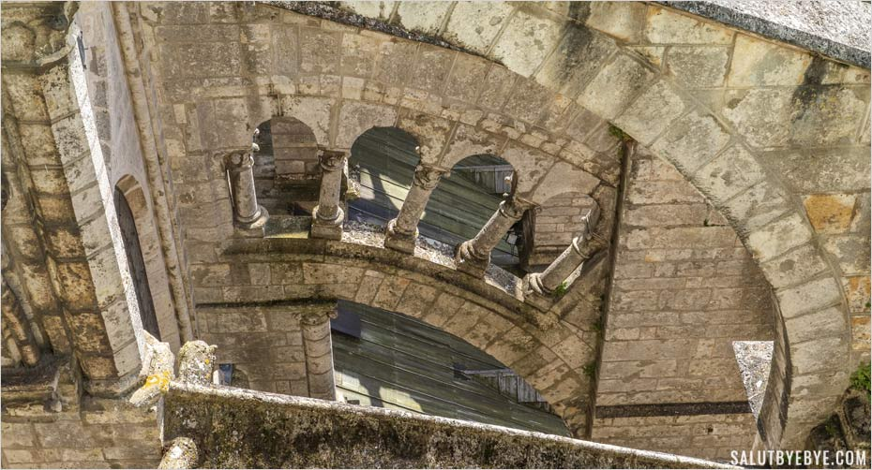 Les toits et arcs-boutants de la cathédrale de Chartres