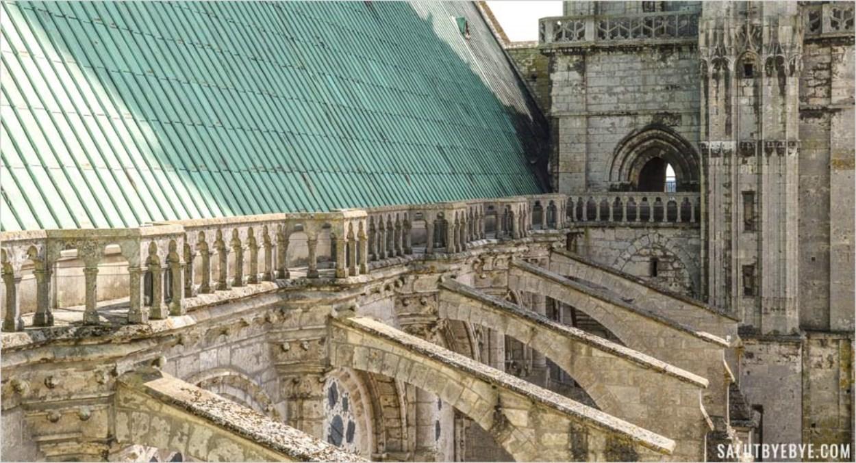Les toits de la cathédrale de Chartres