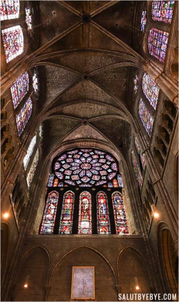 Vitraux du transept nord de la cathédrale de Chartres